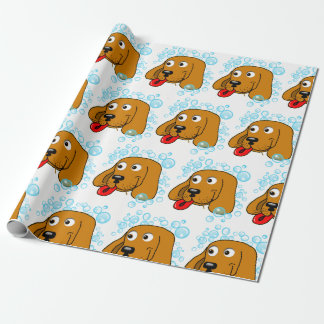 Cute Puppy Bubbles Collage Birthday Wrapping Paper