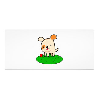 Cute puppy cartoon rack card