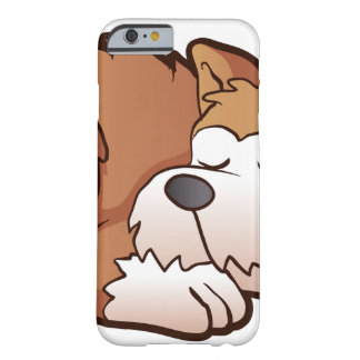 Cute puppy cartoon sleeping barely there iPhone 6 case
