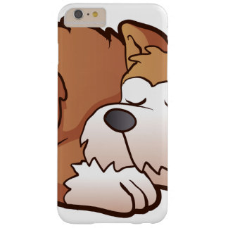 Cute puppy cartoon sleeping barely there iPhone 6 plus case