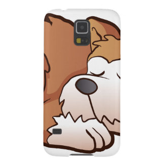 Cute puppy cartoon sleeping cases for galaxy s5