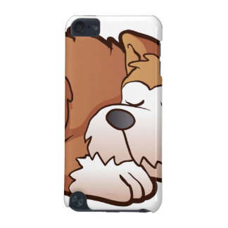 Cute puppy cartoon sleeping iPod touch (5th generation) cases
