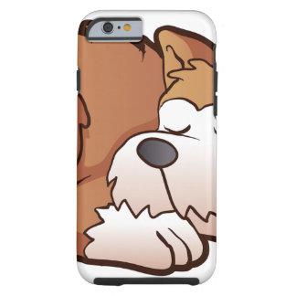 Cute puppy cartoon sleeping tough iPhone 6 case