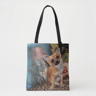 Cute Puppy Dog Chihuahua Dylan Tote Bag