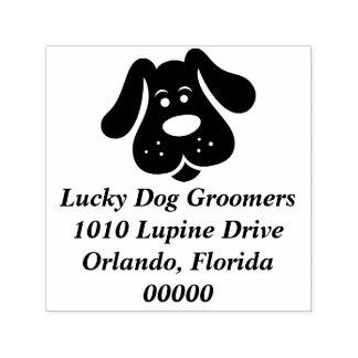 Cute Puppy Dog Groomer Stamp