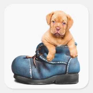 Cute Puppy Dog in a Boot Sticker