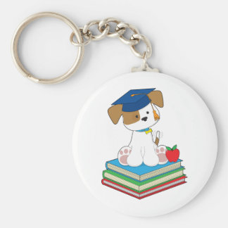 Cute Puppy Graduate Key Ring