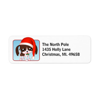 Cute Puppy Holiday Return Address Labels