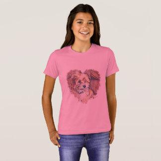 Cute Puppy in a Heart Shirt