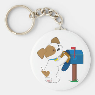 Cute Puppy Mail Key Ring