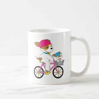 Cute Puppy on Bike Coffee Mug