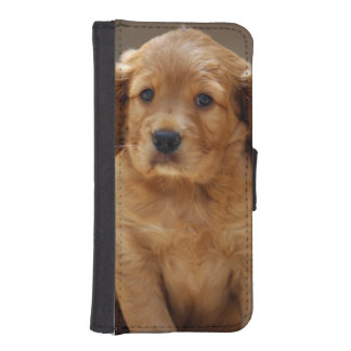 Cute Puppy Portrait Photo iPhone SE/5/5s Wallet Case
