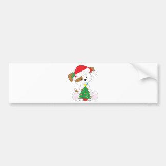 Cute Puppy Santa Bumper Sticker