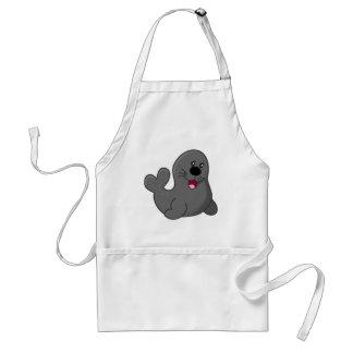 Cute puppy seal standard apron