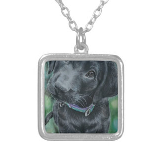 Cute puppy silver plated necklace