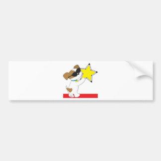 Cute Puppy Star Bumper Sticker