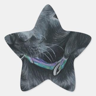 Cute puppy star sticker