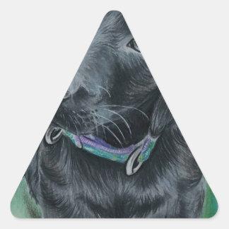 Cute puppy triangle sticker