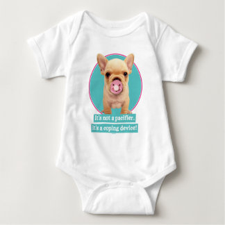 Cute Puppy with Pacifier Baby Bodysuit