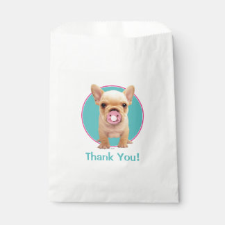 Cute Puppy with Pacifier Favour Bag