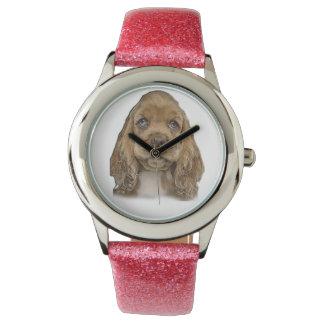 cute puppy wrist watch