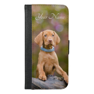 Cute puppyeyed Hungarian Vizsla Dog Puppy - Name iPhone 6/6s Plus Wallet Case