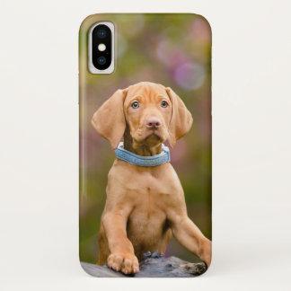 Cute puppyeyed Hungarian Vizsla Dog Puppy Photo // iPhone X Case