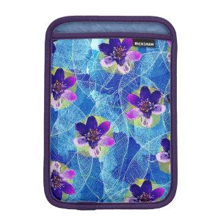 Cute Purple and Blue Artsy Floral Pattern iPad Mini Sleeve
