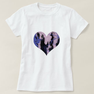 Cute purple and wink abstract heart. tshirts