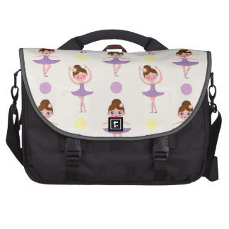 Cute Purple and Yellow Ballet Dancer, Ballerina Bag For Laptop