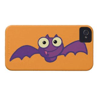 Cute Purple Bat iPhone 4 Case-Mate Cases