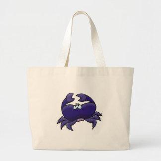 cute purple crab tote bags
