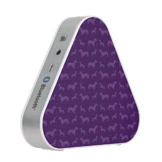 Cute purple dachshund pattern bluetooth speaker