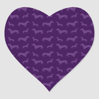 Cute purple dachshund pattern stickers
