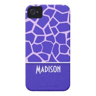 Cute Purple Giraffe Pattern iPhone 4 Case-Mate Case