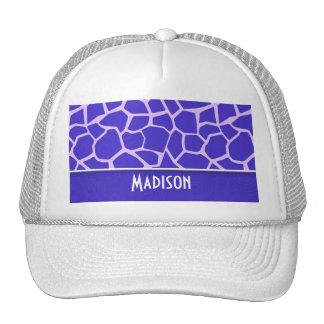 Cute Purple Giraffe Pattern Trucker Hats