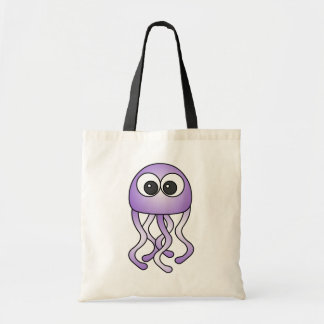 Cute Purple Kawaii Jellyfish Tote Bag