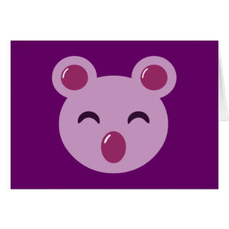 Cute Purple Koala Bear Greeting Card