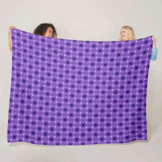 Cute Purple Lady Bug Tribal Plush Pattern Fleece Blanket