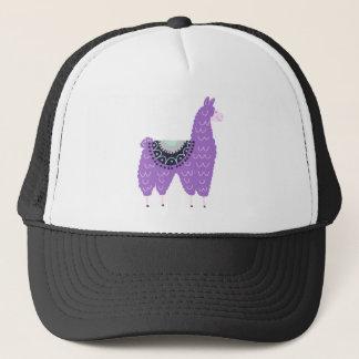 Cute Purple Llama Trucker Hat