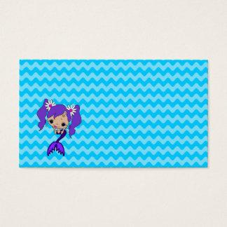 Cute Purple Mermaid Business Card
