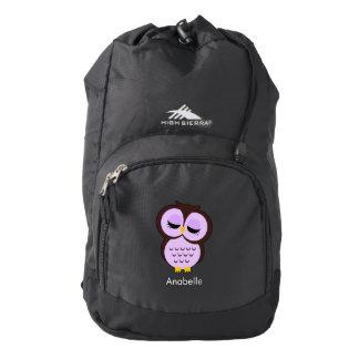 Cute Purple Owl Backpack