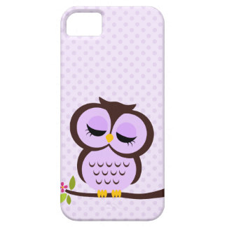 Cute Purple Owl Barely There iPhone 5 Case