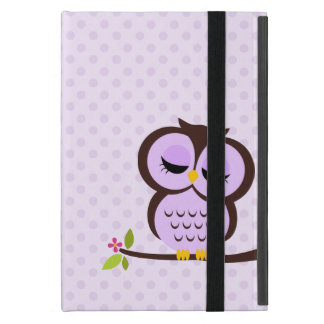 Cute Purple Owl iPad Mini Cover