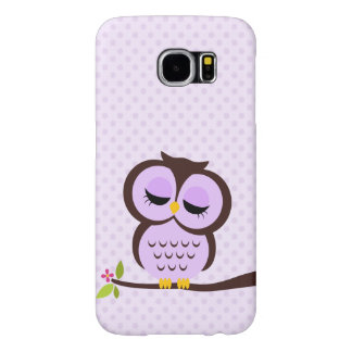 Cute Purple Owl Samsung Galaxy S6 Cases