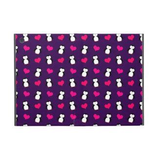 Cute purple penguin hearts pattern cases for iPad mini