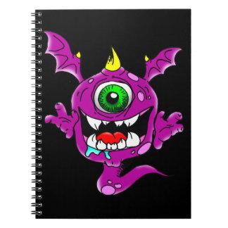 Cute Purple People Eater Monster Notebook