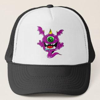 Cute Purple People Eater Monster Trucker Hat