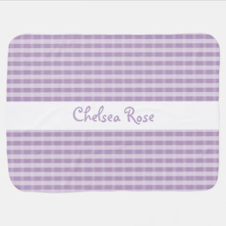 Cute Purple Plaid Baby Blanket