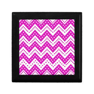 Cute Purple Polkadot Zigzags Gift Box